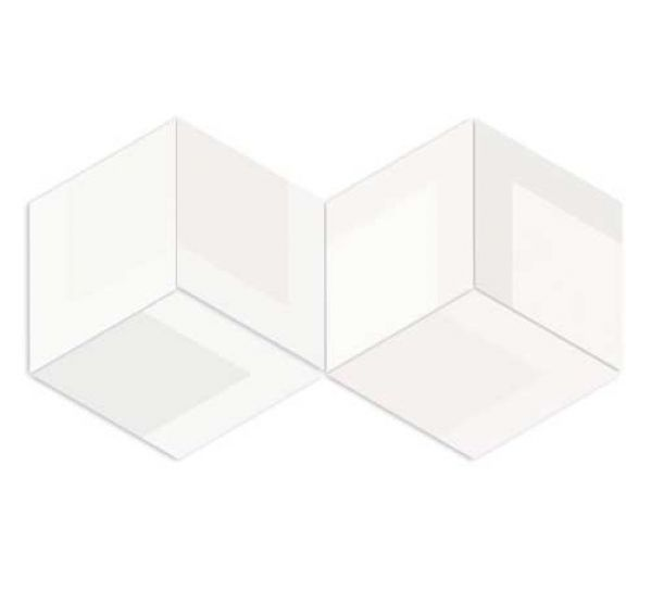 FLOW DIAMOND DECOR OLD WHITE 14x24