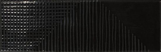equipe kafelki na ściane czarne błyszczące 6,5x20 nowoczesna łazienka kuchnia salon połysk