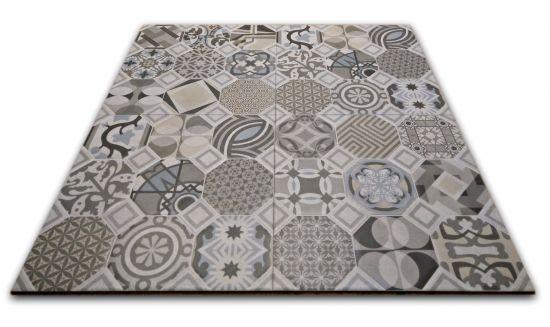 płytki patchwork szare 60x60 do łazienki goetiles flow