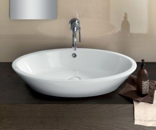 hatra umywalka nablatowa owalna biała umywalka cermika łazienka