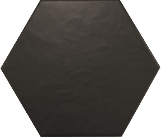 hexagon czarny kafelki na ściane podłoge matowe nowoczesna łazienka salon kucnia 17,5x20