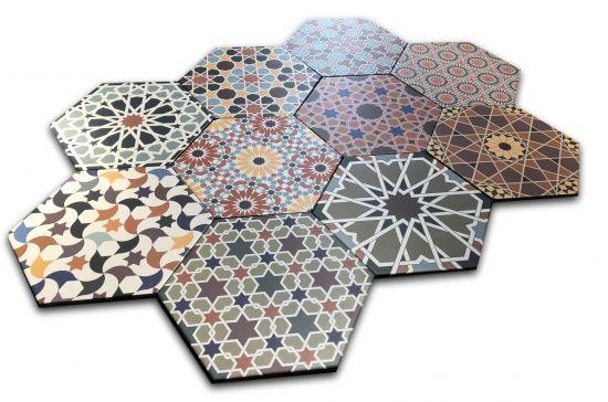 płytki heksagon patchwork Realonda andalusi