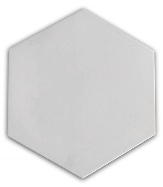 białe płytki heksagonalne