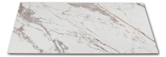 Płytka imitująca marmur biało-szara Veins Gold Brillo 60x120