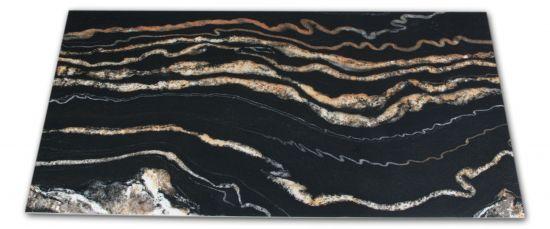 Płytka imitująca marmur czarna z połyskiem Leeds Negro 60x120