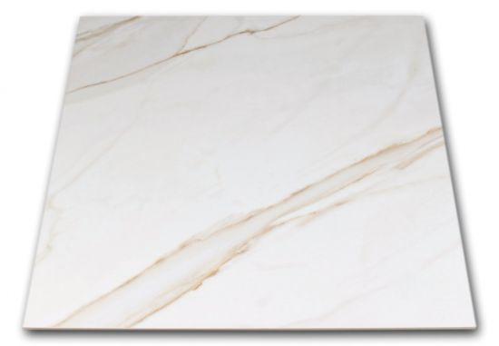 Płytka imitująca marmur biała ze złotymi żyłami Golden White 75x75