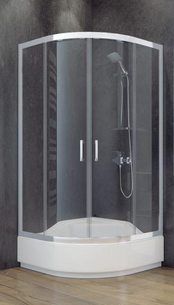 Besco kabina prysznicowa półokrągła szkło przjerzyste