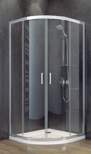 besco kabina prysznicowa półokrągła 80x80x185