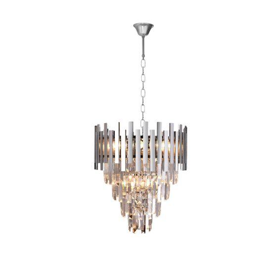 Żyrandol Aspen II chrome 6xE14 glamour milagro
