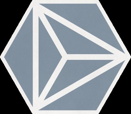 Varadero Azure 19,8x22,8 płytka heksagonalna
