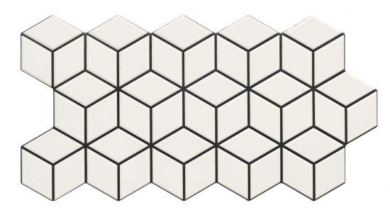 Rhombus Colour Snow 26,5x51 płytki dekoracyjne