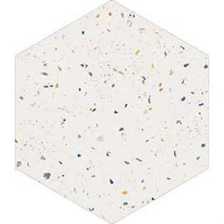 płytka heksagonalna terrazzzo white colours