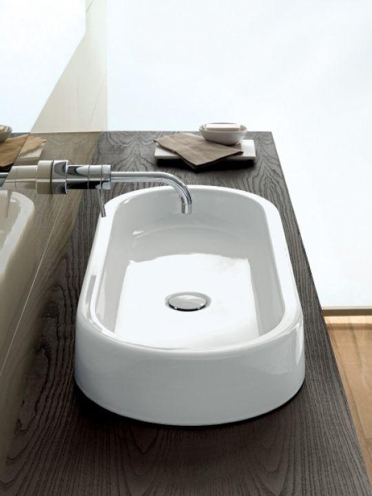 hatria umywalka nablatowa owalna biała umywalka do łazienki