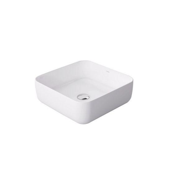 massi umywalka biała nablatowa kwadratowa
