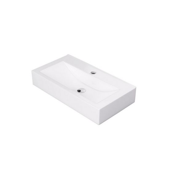 umywalka nablatowa biała prostokątna