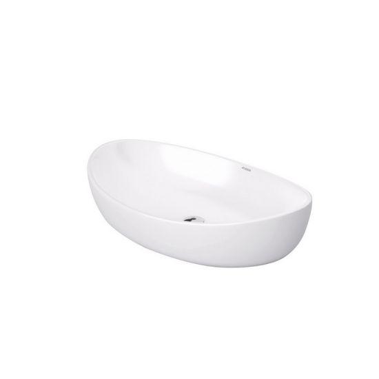 biała umywalka nablatowa owalna umywalka