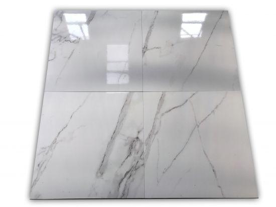 płytki imitujące biały marmus z szarą smugą Venato 75x75 Prissmacer
