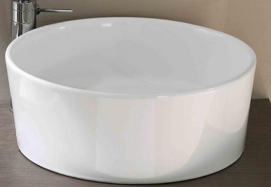 hatria umywalka nablatowa okrągła umywalka biała ceramika