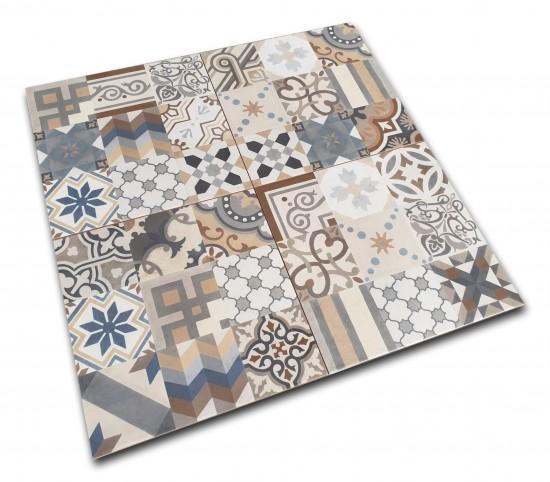 kolorowe płytki patchwork na podłogę33x33