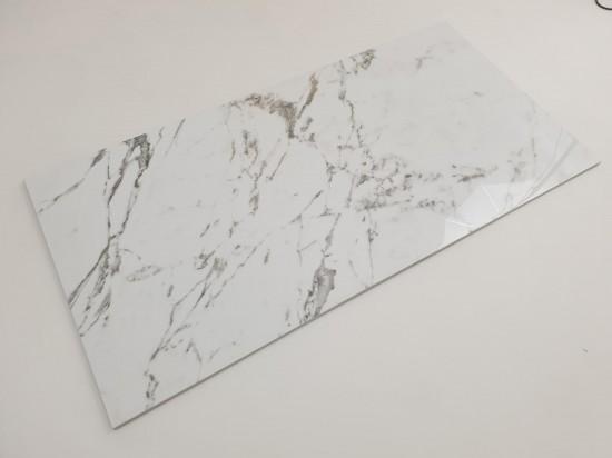 Gres imitujący marmur z szarą smugą Tinenza 60x120