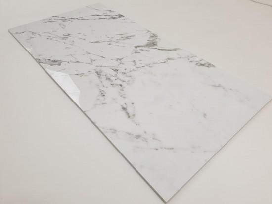 Hiszpańskie płytki łazienkowe imitujące marmur Tinenza 60x120