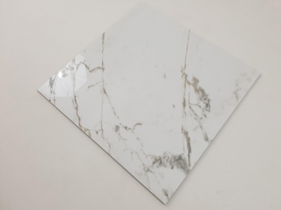 Płytki do salonu imitujące marmur w połysku 75x75 Tinenza