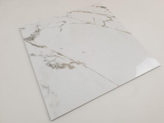Płytki podłogowe do kuchni imitujące marmur w połysku 75x75 Tinenza