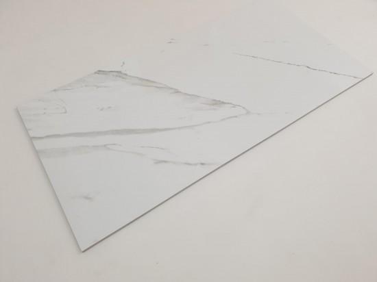 Gres hiszpański imitujący naturalny biały marmur 60x120