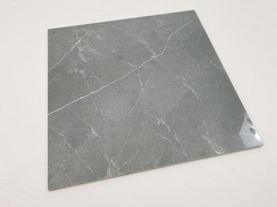 Gres imitujący kamień szary w połysku Pulpis Gris 75x75