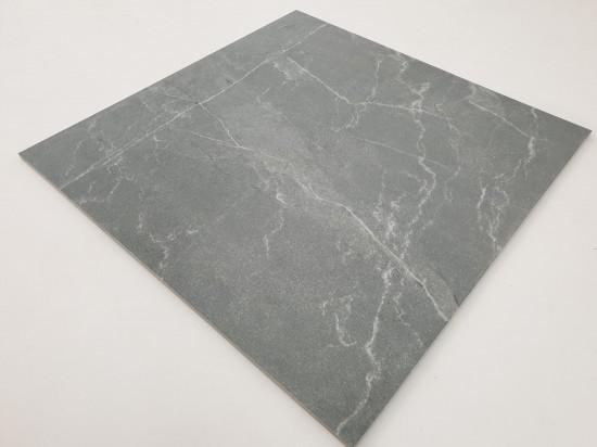 Płytki podłogowe imitujące szary kamień w połysku Pulpis Gris 75x75
