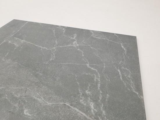 Płytki szare na podłogę w połysku Geotiles Pulpis Gris 75x75