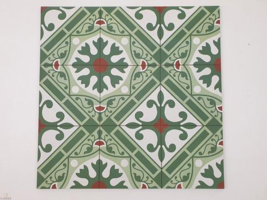 Płytki Altea Corbeta Natural 59.2x59.2 zielony patchwork