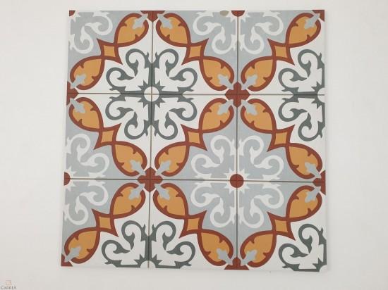 Płytki Aparici Altea Elda Natural 59.2x59.2 patchwork pomarańczowo czerwony