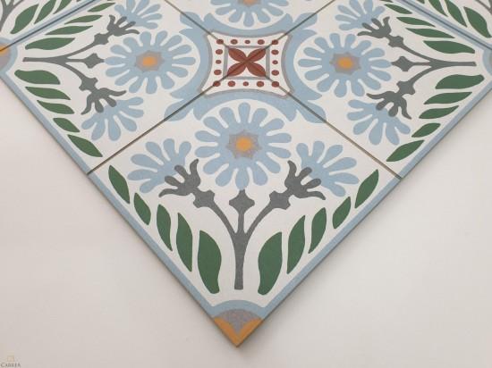 Płytki Aparici Altea Olivo Natural 59.2x59.2 zielony geometryczny patchwork