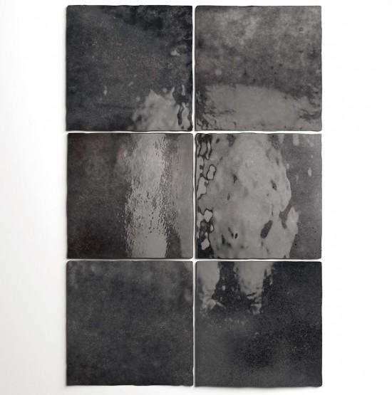 Equipe kafelki na ściane czarne płytki do łazienki połysk