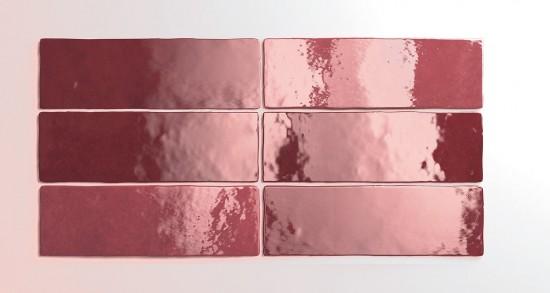 Equipe artisan burgundy kafelki na ściane połysk czerwone łazienka