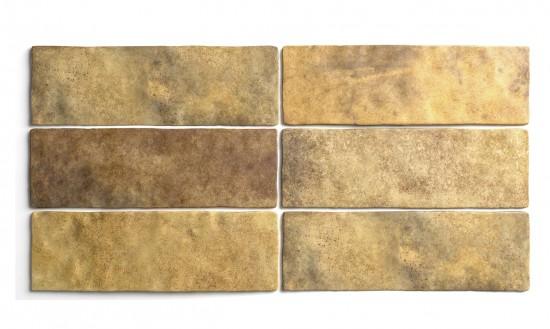 Artisan gold 6,5x20 złote płytki ścienne