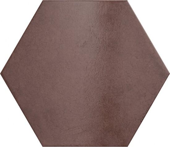 płytki heksagonalne bordowe matowe na podłoge