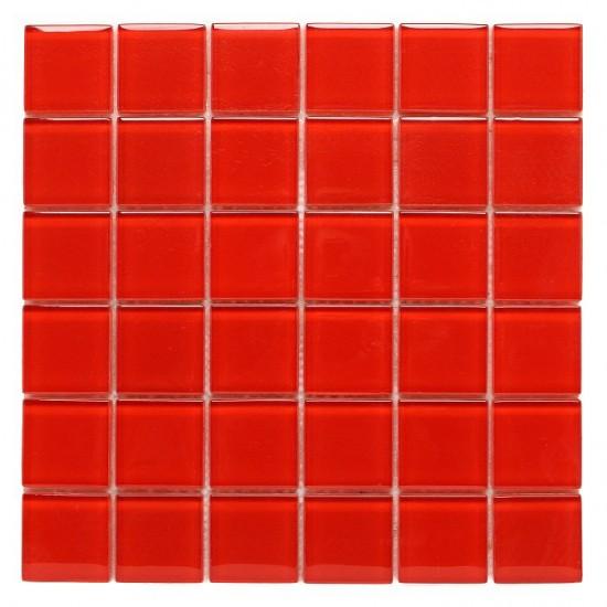 dunin czerwona mozaika na ściane mozaika szklana 30x30