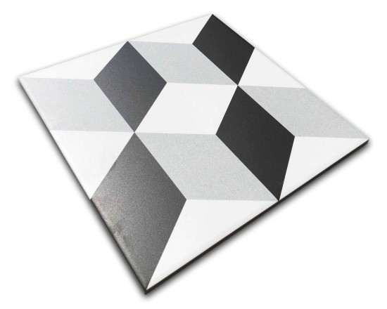 płytki patchwork z efektem 3d 25x25