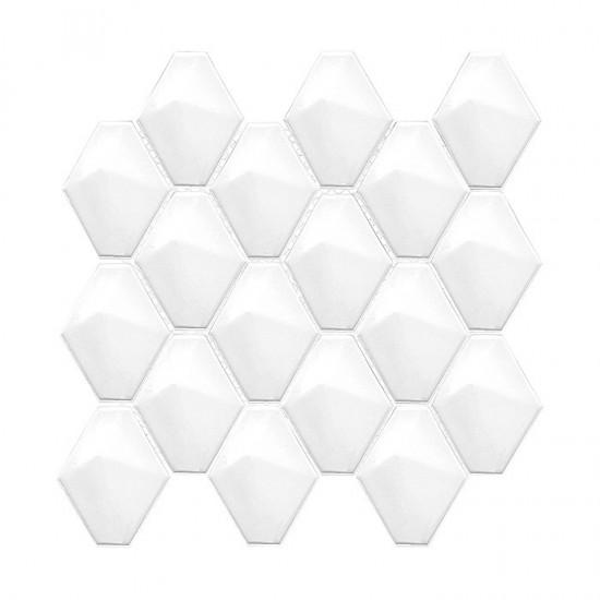 Dunin białe mozaika na ściane moziaka w połysku nowoczesna łazienka kuchnia salon