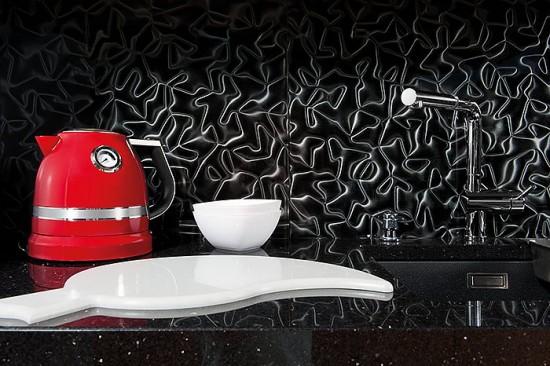 Dunin czarna szklana płytka 60x60 płytka do łazienki kuchni salonu nowoczesna łazienka