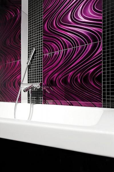 Dunin fioletowa płytka szklana z połyskiem płytka do łazienki nowoczesna łazienka kuchnia