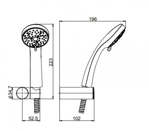 Paini zestaw prysznicowy słuchawka prysznicowa łazienka prysznic
