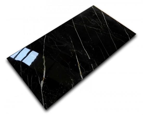 gres czarny z biała żyłką 59x118