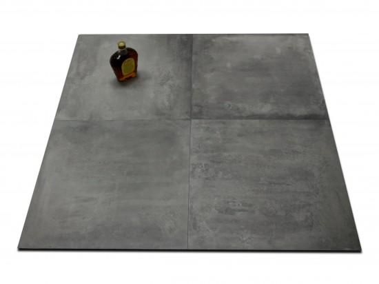 płytki grafitowe imitujące beton Icon Smoke 60x60 Abitare