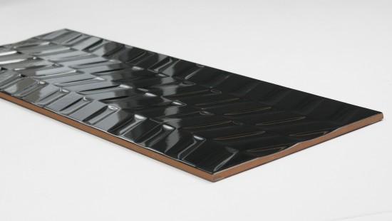 płytki czarne 25x75