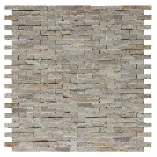 Dunin mozaika na ściane naturalny kamień szara mozaika 30x30