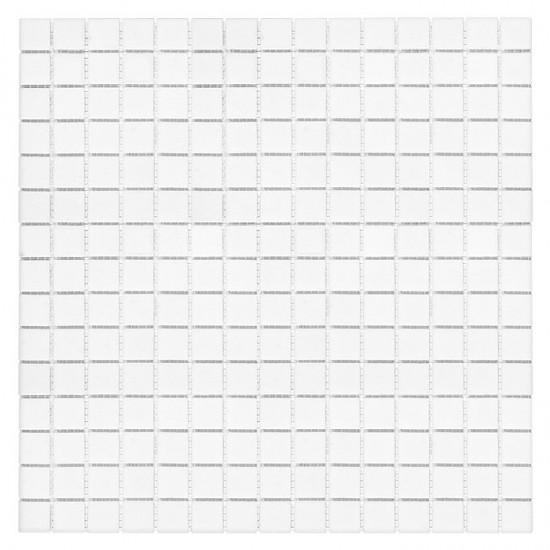 Dunin biała mozaika do łazienki moziaka szklana