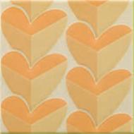 Pamesa zołte kafelki na ściane ze wzorami w serduszka kafle łazienkowe kuchenne